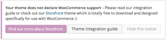 Advertencia Tema Incompatible con Woocommerce